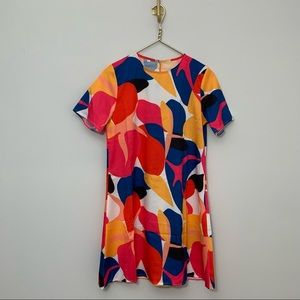 Mod short-sleeve swing mini dress Medium